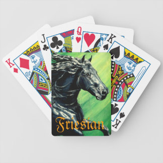 Friesian horse black beauty stallion playing cards