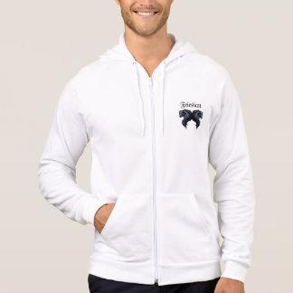 Friesian horse, black stallion beauty hoodies