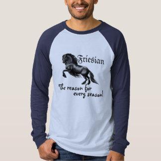 Friesian horse black stallion, reason for season shirts