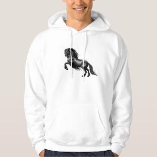 Friesian horse black stallion tis reason season hoody