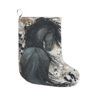 Friesian Horse by Bihrle Christmas Stocking