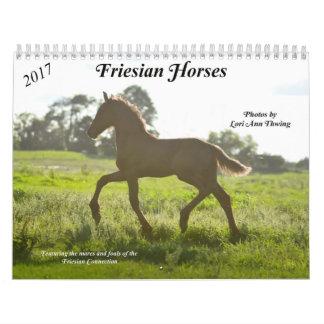 Friesian Horse Calendar