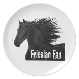 Friesian Horse Fan Plate