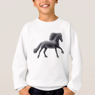 Friesian Horse Galloping Kids Sweatshirt