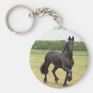 Friesian Horse Keychain