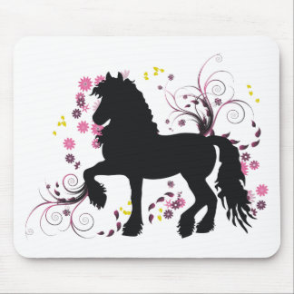 Friesian Horse Mouse Mat