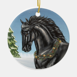 Friesian Horse Ornament