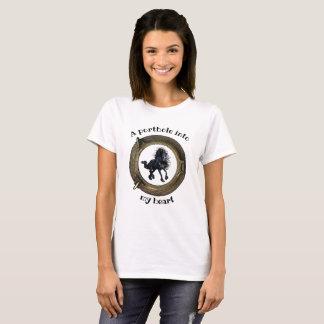 Friesian horse, ship porthole/Portal into heart T-Shirt