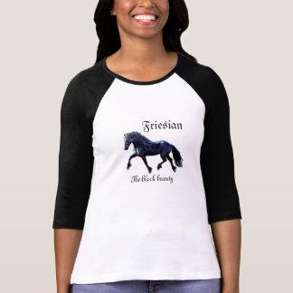 Friesian horse,stallion, the black beauty t-shirts