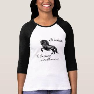 Friesian horse, the black beauty stallion tee shirt