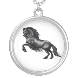 friesian round pendant necklace