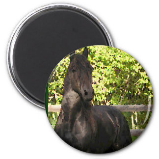 Friesian Painting 6 Cm Round Magnet