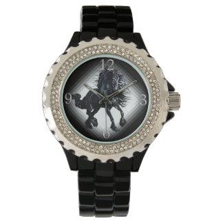 Friesian stallion black beauty horse wrist watches