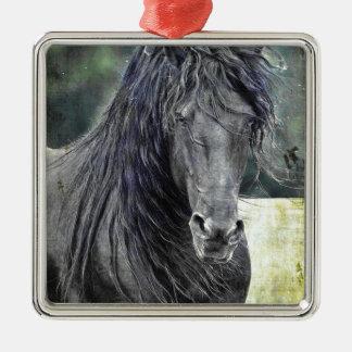 Friesian Stallion Christmas Ornament