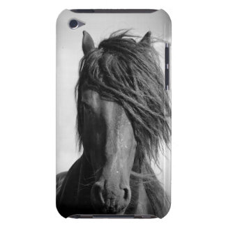 Friesian stallion in the wind. barely there iPod case