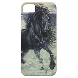 """""""Friesian Storm"""" black stallion in ocean Case For The iPhone 5"""