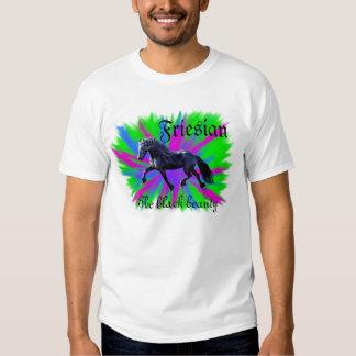 Friesian, the black beauty, stallion horse shirts