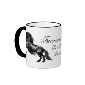 Friesians, black letter ringer mug