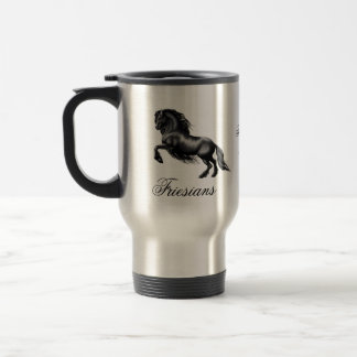Friesians, black letter stainless steel travel mug