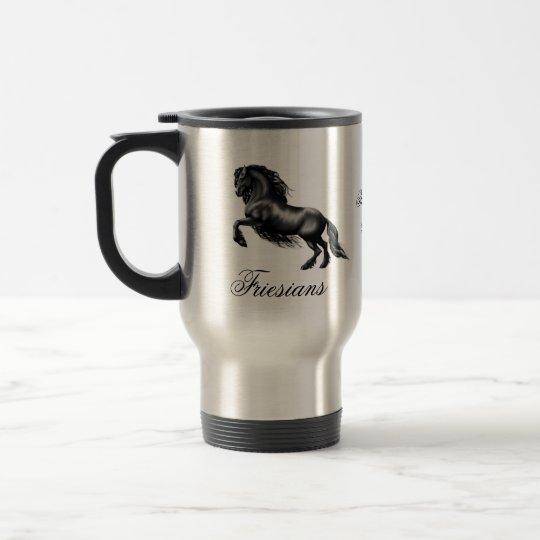 Friesians, black letter travel mug