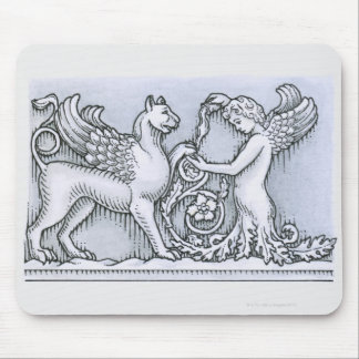 Frieze depicting mythical winged animal and mouse pad