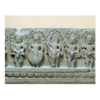 Frieze depicting nine divinities postcard
