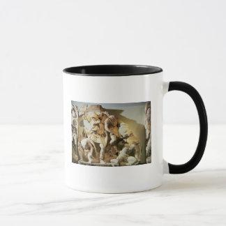 Frieze detail of a battle scene mug