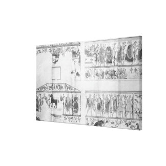 Frieze from the Grotto della Querciola Stretched Canvas Print