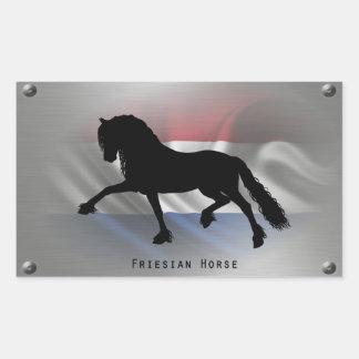 Frieze horse rectangular sticker