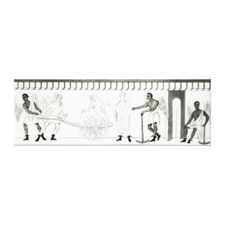 Frieze on the Pillar of the Grotta del Stretched Canvas Prints