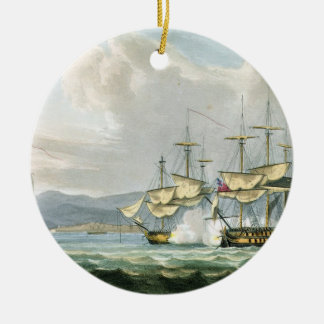 Frigate action in Vizagapatam Roads, off India, 18 Christmas Ornament