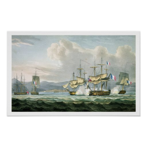 Frigate action in Vizagapatam Roads, off India, 18 Print