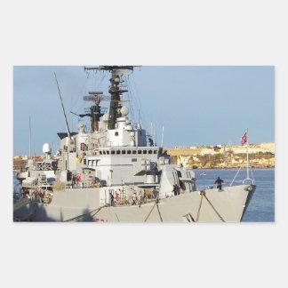Frigate in Malta. Rectangular Sticker