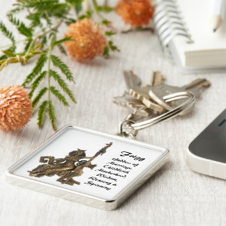 Frigg Silver-Colored Square Key Ring