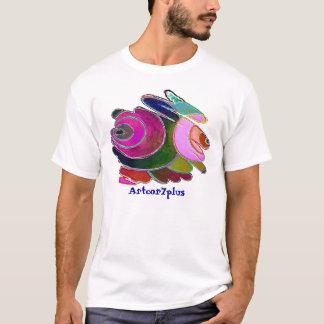 Frigga Pink Blue Spirals Men Light T-Shirt