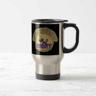 Fright Night Black Cat Cute Halloween Coffee Mug