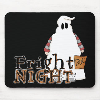 Fright Night Ghost Halloween Mousepad