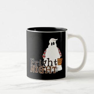 Fright Night Ghost Halloween Coffee Mugs