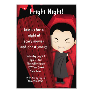 Fright Night Halloween Party 13 Cm X 18 Cm Invitation Card