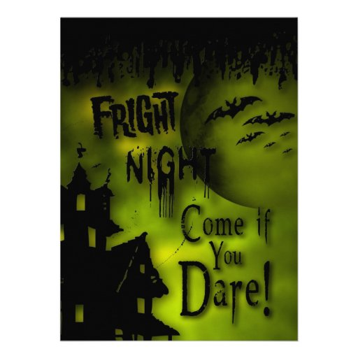 FRIGHT NIGHT HALLOWEEN PARTY - Haunted House Personalized Invite