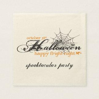 Fright Night Halloween Party Napkins Paper Napkin