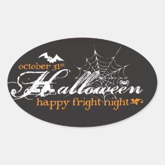 Fright Night Halloween Stickers