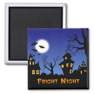 Fright Night Square Magnet