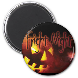 Fright Night on Halloween 6 Cm Round Magnet