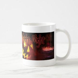 Fright Night on Halloween Basic White Mug