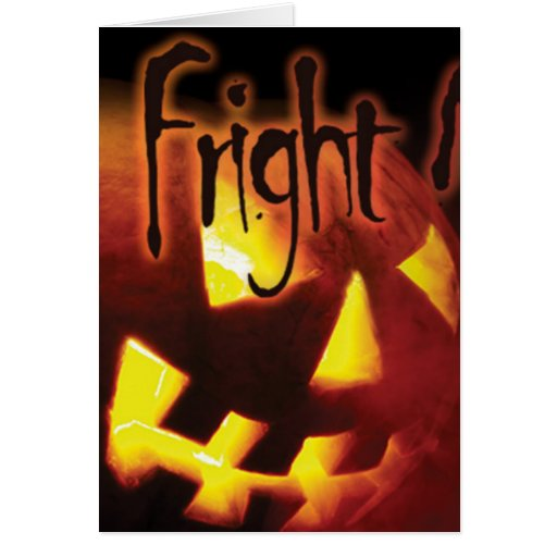Fright Night on Halloween Greeting Card