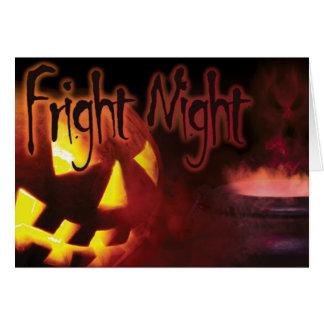 Fright Night on Halloween Greeting Card