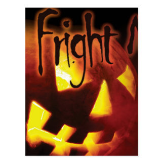 Fright Night on Halloween Post Cards