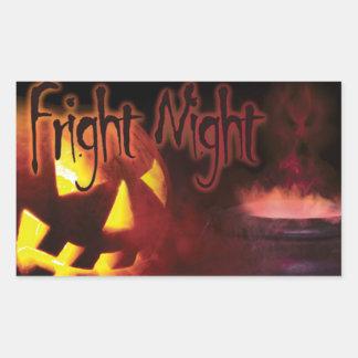 Fright Night on Halloween Rectangular Sticker