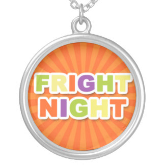 Fright Night Round Pendant Necklace